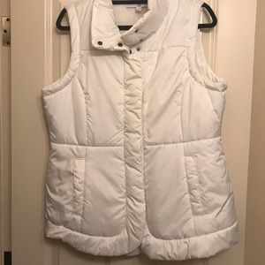 New York & Company Women's Puffer White Vest.